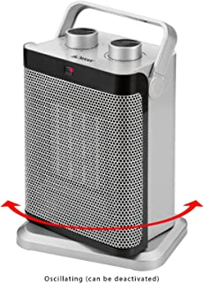 2in1cerámica calefactor y ventilador 1500W combinado dispositivo calefactor ventilador (sujeción segura, calefactor, resistente, Oscilante, asa)