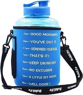 BuildLife 1 Gallon(128OZ/83OZ) Water Bottle Inspirational...