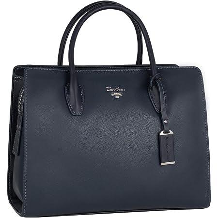 elegante klassische Damen Handtasche Shopper dunkel blau