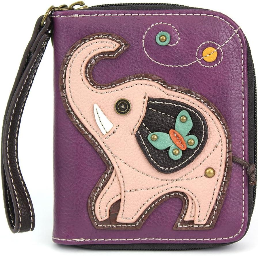 Chala Pal Zipper Wallet Collection (Elephant- Purple), Small