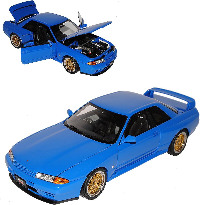 AUTOart Nissan Skyline GT-R R32 Tuned Version Blau Coupe 1989-1993 77415 1 18 Modell Auto mit individiuellem Wunschkennzeichen