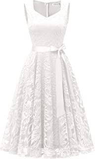 Gardenwed Elegant Lace Bridesmaid Dresses Sleeveless V Neck Formal Dresses Cocktail Dresses for Women