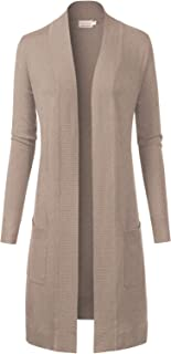 Women's Solid Soft Stretch Long-Line Long Sleeve Cardigan [S-XL]