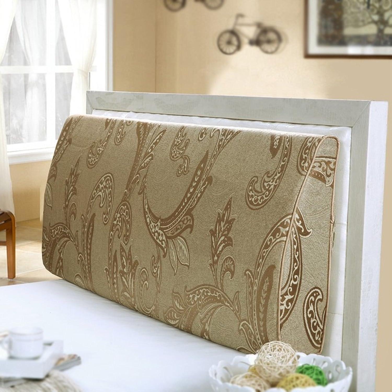 JIMI-I Coussin soft cover de chevet dossier courbe dossier de lit double repose-tête lavable coussin triangulaire (Couleur   120  50  12cm)