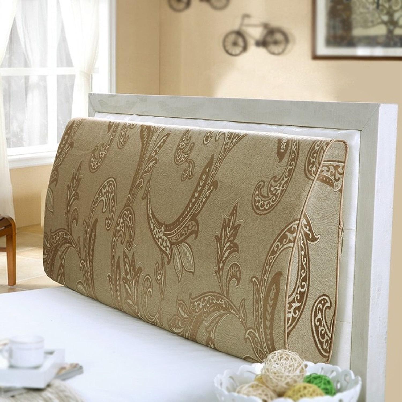 JIMI-I Coussin soft cover de chevet dossier courbe dossier de lit double repose-tête lavable coussin triangulaire (Couleur   120  50  10cm)