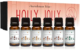 Sponsored Ad - Premium Grade Fragrance Oil - Holly Jolly - Gift Set 6/10ML Bottles - Almond, Chocolate, Cinnamon, Musk, Pi...
