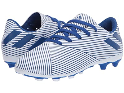adidas Kids Nemeziz 19.4 FxG J Soccer (Little Kid/Big Kid) (White/Team Royal/Black) Kids Shoes