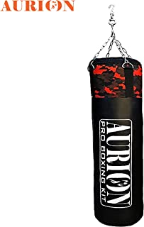 Aurion Unfilled Punch Bag 4ft 5ft 6ft Boxing kickboxing bag with hanging chain