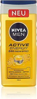 NIVEA MEN Active Energy verzorgende douchegel (250 ml), verfrissende douchegel met natuurlijke cafeïne, revitaliserende do...