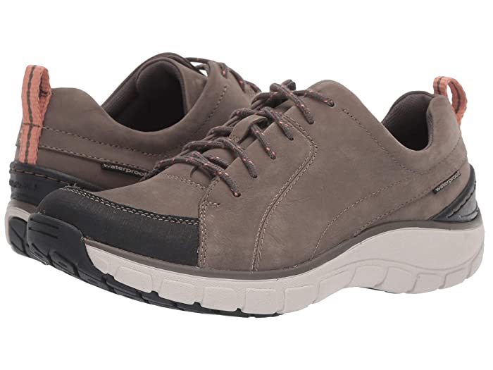 Clarks  Wave Go (Taupe Nubuck/Leather Combi) Womens Lace up casual Shoes