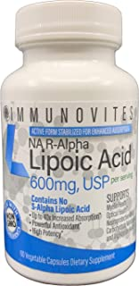Stabilized R-Alpha Lipoic Acid ((True)) 600mg per Serving [[High Potency & up to 40x Increased Absorption]]...
