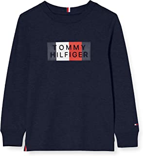 Tommy Hilfiger Global Stripe Graphic tee L/S Camisa para Niños