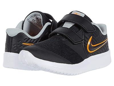 Nike Kids Star Runner 2 (Infant/Toddler) (Black/Total Orange/White/Light Smoke Grey) Kids Shoes