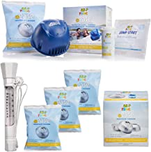 Elite Homeware Spa Kit - Frog @Ease Replacement SmartChlor Chlorine Cartridge - 3 Pack, Frog @Ease Floating Sanitizing System with Magnified Floatable and Sinkable Pool Spa Hot Tub Thermometer