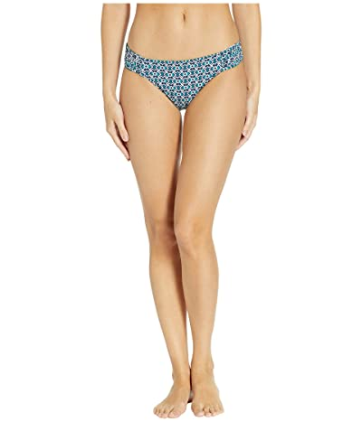 Tommy Bahama Breezy Palm Reversible Shirred Hipster (Mare Navy) Women