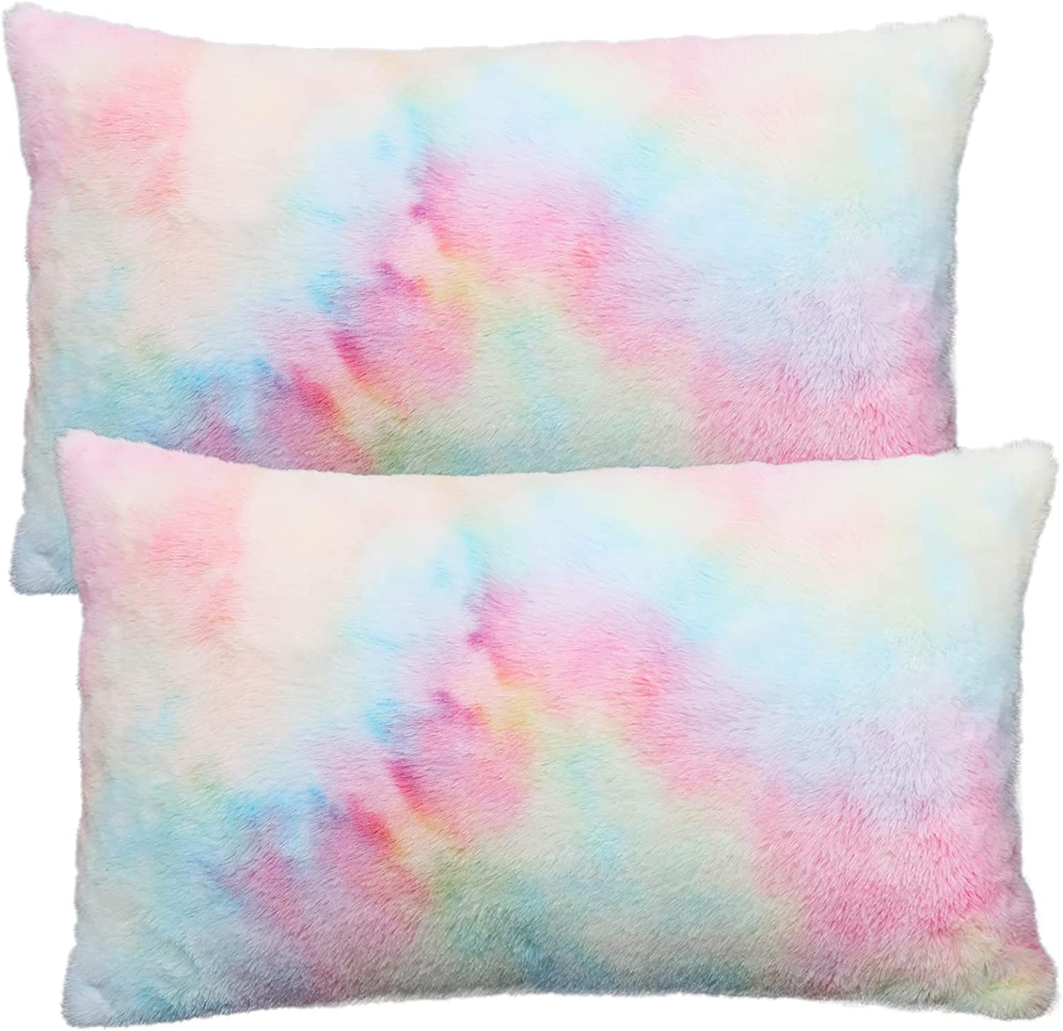 Arlington Mall New Free Shipping Muchique Pack of 2 Soft Faux Lumbar Throw Decorative Pillow Fur