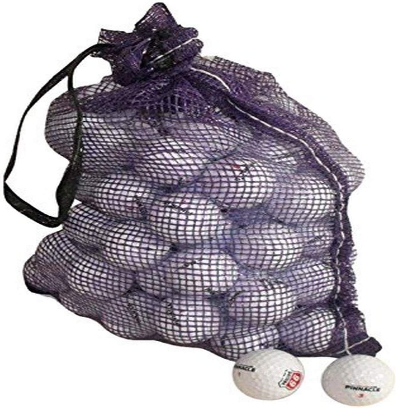 Pinnacle Recycled Grade A Golf Balls Cleaned Golf Balls Mint Condition 72 Balls Assorted Models in Onion Mesh Bag