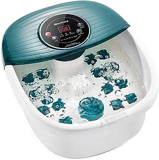Bain de Pieds Relaxant, Balnéothérapie avec Accessoires de Pédicure, Appareil de massage avec Chauffage de l'eau, Massage ...