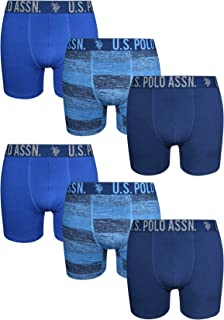 U.S. Polo Assn. Men's Stretch Fit Boxer Briefs with Comfort Pouch (6 Pack)