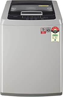 LG 7 kg 5 Star Inverter Fully-Automatic Top Loading Washing Machine (T70SKSF1Z, Middle Free Silver, TurboDrum)