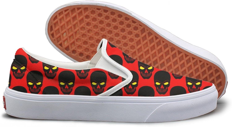 Angrily Skulls Womens Slip On Sneakers