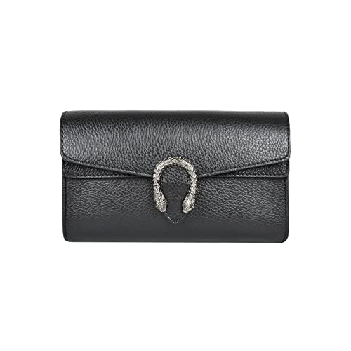 Black Genuine Leather Purse Italian Designer  Amazon.com e5759ee84191b