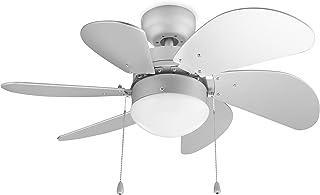 Tristar VE-5810 Ventilateur de plafond Blanc 60 W - Ø 76 cm - Avec tirette