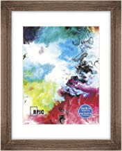 RPJC 14x18 Soild Wood Poster Frames with High Definition Glass Cover Display Pictures 11x14 with Mat or 14x18 Without Mat for Wall Mounting Hanging Picture Frame Carbonized
