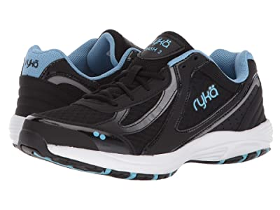 Ryka Dash 3 (Black/Meter/Blue Leather) Women