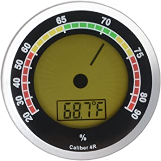 Cigar Oasis Caliber 4R Silver Digital/Analog Hygrometer by Western Humidor