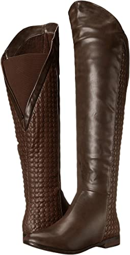 b3d7f57854f Coffee. 389. Chinese Laundry. Racer Over the Knee Quilted Boot