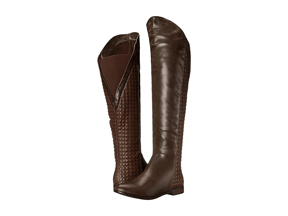 Chinese Laundry Racer Over the Knee Quilted Boot (Coffee) Women