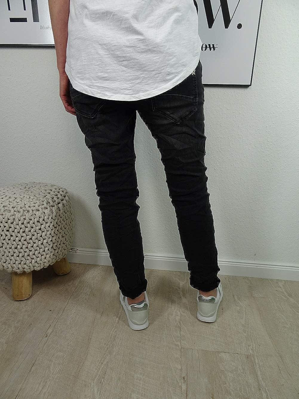 Karostar by Lexxury Denim Stretch Baggy-Boyfriend-Jeans Boyfriend 4 Boutons Rangée Ouverte de Boutons Autre Couleurs Denim Neuf Bouton