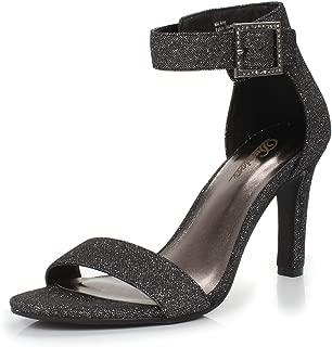 DUNION Women's Amy Rhinestone Strappy Stiletto High Heel Dress Sandal Party Prom Wedding Shoe