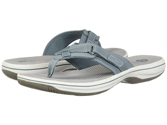 Clarks  Breeze Sea (Blue Grey Synthetic) Womens Sandals