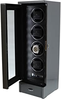 Quad Automatic Watch Winder Carbon Fibre Finish Tower Series by AEVITAS