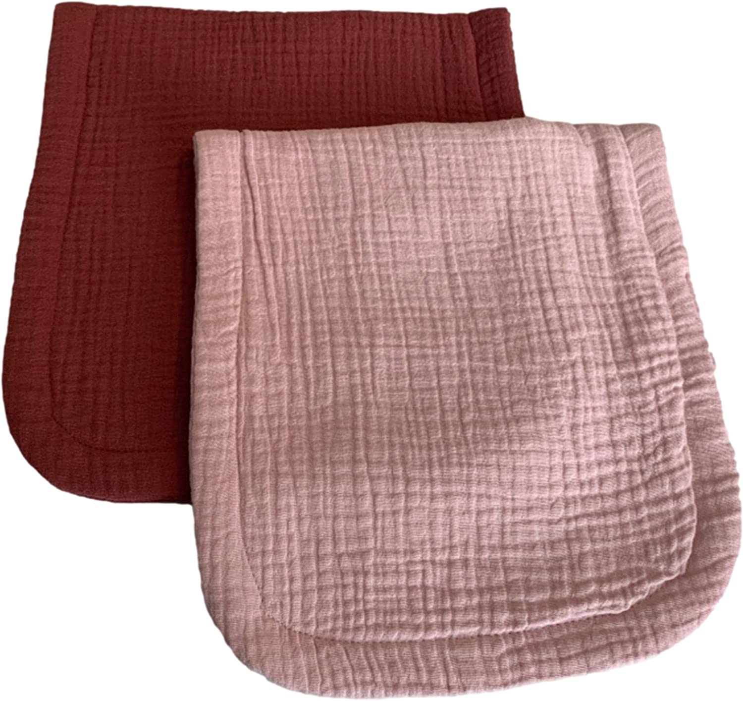 Organic Cotton Bamboo Terry Burp fig Max 45% OFF Cloths Violet Pale Pink excellence