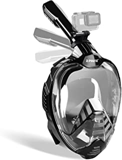 ZIPOUTE Snorkel Mask Full Face, Full Face Snorkel Mask Adult and Kids with Detachable Camera Mount, Snorkeling Mask 180 Pa...