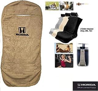 Seat Armour -Tan Towel Seat Covers for Honda -Pair