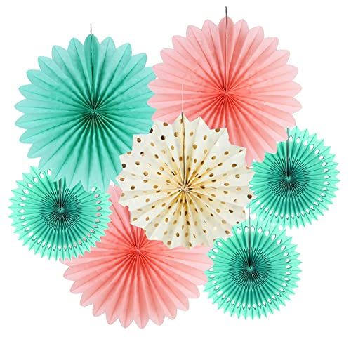 Pink And Mint Baby Shower Decorations Amazon Com