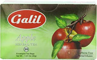 Galil Tea, Apple - 20 Count Boxes (Pack Of 6) - Herbal Tea - Naturally Caffeine Free - Certified Kosher