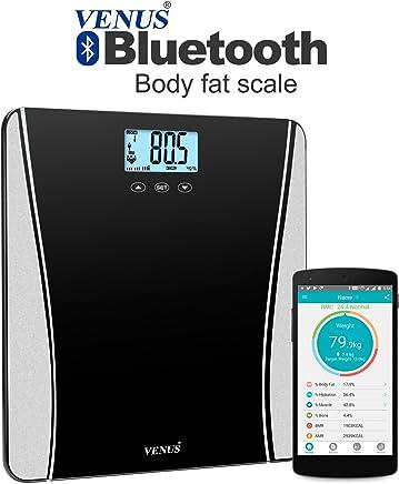 Venus EPS-123 Ultra Lite Bluetooth Personal Electronic Digital LCD Weight (Black)