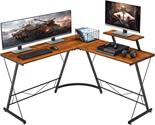 "Mr IRONSTONE L-Shaped Desk 50.8"" Computer Corner Desk, Home Gaming Desk, Office Writing Workstation with Large Monitor Sta..."