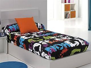 Cañete - Edredón ajustable NÓRDICA cama 105 - Color Negro