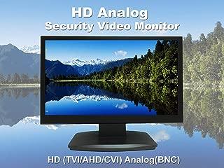 101AV 23.6 Inch Analog HD 16:9 Professional LED Security Monitor Work with HD-TVI, AHD, CVI & CVBS 1x HDMI & 2X BNC Inputs for CCTV DVR Home Office Surveillance System