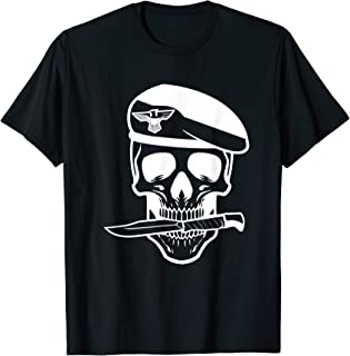 Army Soldier Skull Knife Tattoo Veteran T-Shirt