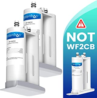 Waterdrop Refrigerator Water Filter, Compatible with EWF01, FC-300, FC300, EFF-6018A, 241988703, Pack of 2