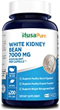 White Kidney Beans 7,000 mg 200 Veg Capsules - Extract 20:1, Vegetarian, Gluten-Free and Non-GMO. Supports Healthy Enzyme ...