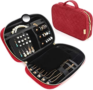 Vemingo Travel Jewelry Organizer Case Jewelry Storage Bag Travel Jewelry Roll for Necklace Earring Ring Bracelet