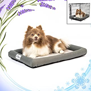 PetFusion Lavender-Infused Dog Bed w/ Thermoregulation, Solid Certi-PUR-US Orthopedic Memory Foam   Anti-Anxiety Crate Mat...